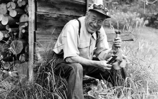 """Doc"" Keene with prize radishes behind his woodshed. 1960s. FILE PHOTO  (photo: )"