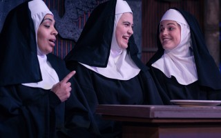 "Heidi Cloutier (Deloris Van Cartier, Cella Mariani (Sister Mary Lazarus) and Paige Neal (Nun) in ""Sister Act, The Musical."" NICOLE GOWAN PHOTO  (photo: Nicole Gowan)"