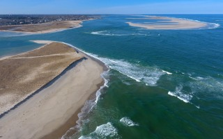 A close-up view of the April 1 South Beach inlet taken by a drone looking north over the cut toward Lighthouse Beach. CHRISTOPHER SUEFERT PHOTO  (photo: )