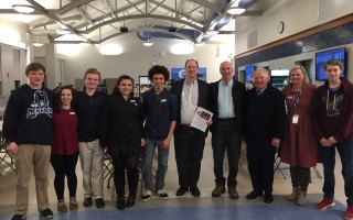 The MRHS Interact Club hosted the Rotarians from Chatham and Harwich recently. They served hors d'oeuvres, gave tours of the school, shared a meal made by Ms. Freitas, and helped with clean up after the event. Thank you for showing your Shark Pride and sharing Monomoy with our special guests. Students present were Peter Casey, Cam Coomber, Celia Cota, David Howell, Cam Carlson, Mariah Benoit, Lindsey MacDonald, Abby Tyldsley, and Caraline Labelle.  (photo: )