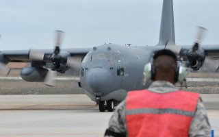 Members of the 106th Rescue Wing assigned to New York Air National Guard prepare to take off on the rescue mission Monday.  USAF PHOTO / MASTER SGT. CHERAN CAMBRIDGE  (photo: Master Sgt. Cheran Cambridge)