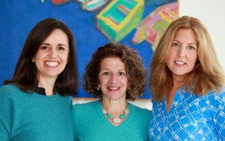 "From left, Giorgia Florena Shaban, Kim Roderiques, Karen Ginter, authors and illustrators of ""Max and Charlie Help a Hero."" COURTESY PHOTO 