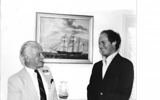 Dr. E. J. Knapton of the Chatham Historical Society Scholarship committee presents Craig R. Rochette that years scholarship. 1981. FILE PHOTO  (photo: )