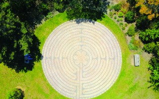 Chatham's labyrinth in Chase Park. DON MOORE PHOTO 