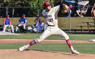 Harwich pitcher Tyler Baum will take the mound in the 2017 Cape League All-Star Game this Saturday when East faces West at Spillane Field in Wareham. Kat Szmit Photo 