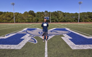 Brandon Perry, Monomoy football's new head coach, is looking forward to many years as a Shark. Kat Szmit Photo  (photo: )