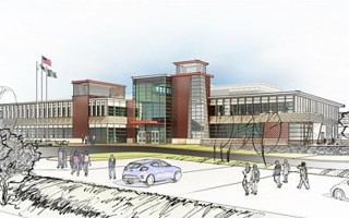 An architect's rendition of the proposed new Cape Cod Tech building.    (photo: Courtesy Cape Tech)