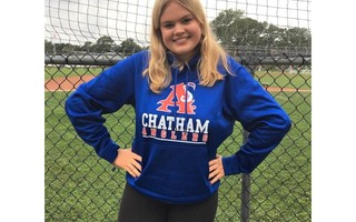 Alexandra Russell became Chatham's first woman sportswriter this season, relishing her role with the team. Contributed Photo  (photo: )