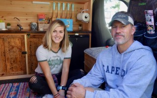 Alexis and her father, Perry, spent two months making the van into a cozy mobile home.  JENNIFER ELDREDGE STELLO PHOTO  (photo: Jennifer Eldredge Stello)