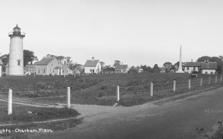 Panoramic photograph of the Chatham Twin Lights probably taken between 1910 and 1922; the northern tower was moved to Eastham in 1923. COURTESY CHATHAM HISTORICAL SOCIETY  (photo: )