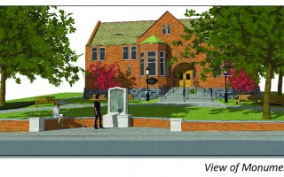 Illustration of the proposed changes to the front lawn of the Eldredge Public Library. LEN SUSSMAN ILLUSTRATION  (photo: )