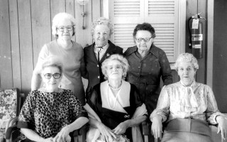Six residents of the Anchorage Community Housing run by the Chatham  Housing  Authority,  gathered  together in 1985 to celebrate a month of birthdays. From left, back row, Evelyn Belange, 72; Clive Fellows, 80; Madalynn White, 73, front row, Bemice Jewell, 78; Lucia Valdivia,  93; and Mary Baker, 76. FILE PHOTO    (photo: )