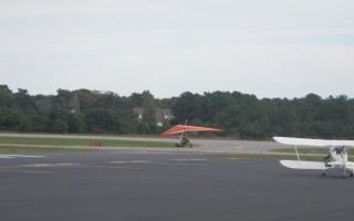 An ultralight aircraft on the runway at Chatham Municipal Airport. Concern was raised about the safety of the experimental aircraft after two took off and landed at the airport in early October. PHOTO COURTESY OF DAVID BIXBY  (photo: Courtesy David Bixby)