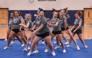 The Monomoy cheerleading squad recently earned its way to the regional competition after placing first in its league thanks to enthusiasm, spirit, and sass. Kat Szmit Photo  (photo: )