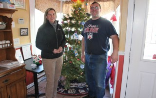 The Children's Center Director Abby Newberry-West and Ruggie's owner Matt Rocco at the Giving Tree inside the Harwich Center restaurant. WILLIAM F. GALVIN PHOTO  (photo: )