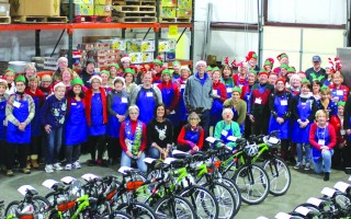 Volunteer elves, scads of toys, and more than 115 bicycles made the annual Toy Day event at The Family Pantry of Cape Cod memorable. DEBRA DECOSTA PHOTO  (photo: )