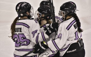 Maura Blute (25) celebrates scoring a goal with Cape Cod Furies teammates. Kat Szmit Photo  (photo: )