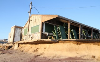 Liam's, pictured here last Friday, was left teetering on the edge of a dune. Additional erosion was expected during this week's nor'easter. ALAN POLLOCK PHOTO  (photo: Alan Pollock)