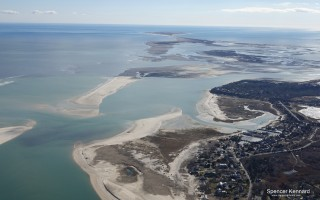 South Beach, on the left, took a beating from storms over the past three months, leading to extensive erosion on the mainland, especially at the Morris Island headquarters of the Monomoy National Wildlife Refuge.  SPENCER KENNARD PHOTO  (photo: )
