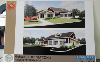 The rendering of the proposed East Harwich Fire Station. WILLIAM F. GALVIN PHOTOS  (photo: )
