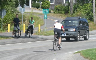 The bike trail crossing at Crowell Road is one of several targeted for safety improvements. FILE PHOTO  (photo: Alan Pollock)