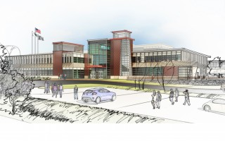 An architect's rendition of the new Cape Tech building.  (photo: )
