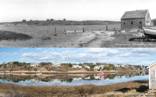 Oyster River in the early 1900s and now. Notice the build up of homes on the opposite bank. CHATHAM HISTORICAL SOCIETY/ANDY YOUNG  (photo: Chatham Historical Society / Andy Young)