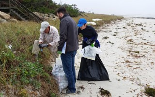 Last year's Coastsweep collected more than 20,000 pounds of trash from Massachusetts beaches. HCT PHOTO  (photo: Courtesy Harwich Conservation Trust)