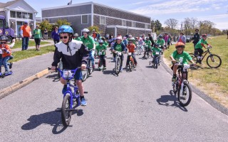 Young riders take off at the start of the Hard Top Challenge in the 2017 PMC Kids Ride held at Monomoy Middle School. The 2018 event is being held Sept. 30 at Stony Brook Elementary in Brewster. FILE PHOTO  (photo: )
