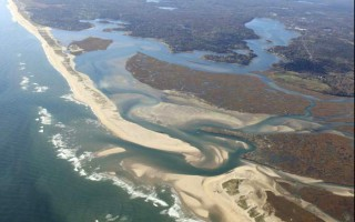 An aerial view of Nauset Inlet, with Town Cove on the upper right and Nauset Beach in the upper left.  COURTESY PHOTO  (photo: Courtesy photo)