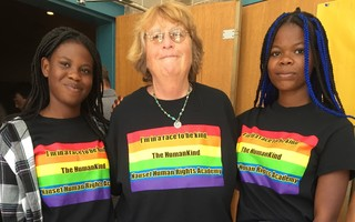 Nauset Regional High School teacher Lisa Brown, middle, has been the faculty advisor for the school's Human Rights Academy since the program launched in 2007. Courtesy Photo  (photo: )