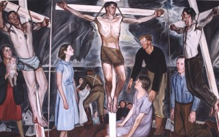 "Frederick S. Wight's ""Modern Crucifixion,"" painted in the early 1930s with local residents as models, is being displayed at the Gallery at St. Christopher's for the first time in 80 years. COURTESY PHOTO  (photo: )"