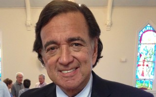 Former New Mexico governor and part-time Chatham resident Bill Richardson spoke at St. Christopher's Church Wednesday. DEBRA LAWLESS PHOTO  (photo: )