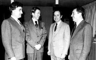 Hotel-Motel Association members Charles Popper, James Pantelas, Matt Dooling and Donald Beck Chatham. 1981. FILE PHOTO  (photo: )
