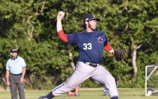 Harwich's BJ Myers will be the starting pitcher for the East Division All-Stars on Saturday. In five games and 34 innings pitched, Myers has 20 strikeouts and an ERA of 1.31. Kat Szmit Photo  (photo: Kat Szmit)