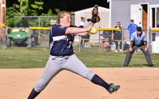 Monomoy pitcher Mollie Charest takes aim during the MIAA Div. 3 South Semifinals on June 7. Kat Szmit Photo  (photo: )