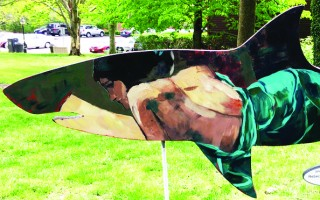 This shark, sponsored by Rebecca Jean and painted by Rebecca Shanahan, was stolen early Saturday morning but returned later in the day. A suspect confessed to the crime and police are awaiting more information before charges are filed. COURTESY PHOTO  (photo: )