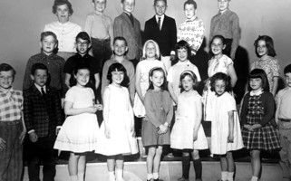 Mrs Gates and students at Chatham Elementary, 1964.  PHOTO COURTESY OF NANCY GEIGER  (photo: )