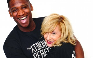 "Broadway Actor Jelani Remy and Lisa Jason wearing Jason's ""Uniquely Perfect"" shirts from her show ""Bullied to Beautiful."" COURTESY PHOTO  (photo: )"