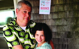 Daniel Handler and his wife, illustrator Lisa Brown, at a signing for Brown's latest book last summer at Chatham Airport. DEBRA LAWLESS PHOTO  (photo: )