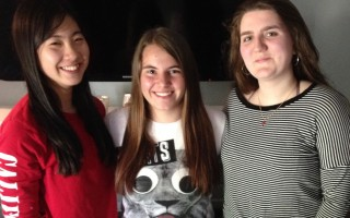 Chatham AFS students, from left, Yoshika Hida of Japan, Estela Sanchez Olivencia of Spain, Meret Prangulaishvili of Switzerland. DEBRA LAWLESS PHOTO  (photo: Debra Lawless)