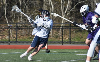 Monomoy's Tommy Pandiscio fires a shot during Monday's season opener against Martha's Vineyard in Harwich. BRAD JOYAL PHOTO  (photo: )