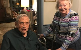 John and Barbara Emison celebrated their 74 th  wedding anniversary this month.  COURTESY PHOTO 