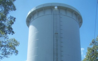 This town water tower overlooking the transfer station could be a site for disposal of treated wastewater. ED MARONEY PHOTO  (photo: Ed Maroney)