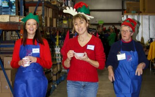 Elves helped hand out toys at the Family Pantry last weekend. DEBRA DECOSTA PHOTO  (photo: )