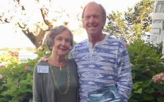 Eunice Burley, outgoing president of the Chatham Conservation Foundation, and naturalist Peter Trull, who spoke at the group's annual meeting last week. DEBRA LAWLESS PHOTO  (photo: )