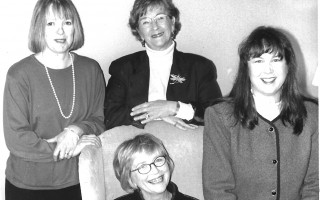 The Cape Cod Chronicle sales team in 1998.Standing: Jane Leonard, Sheila Smith, Deb DeCosta; sitting: Maureen Grady.  FILE PHOTO   (photo: )