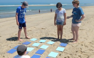 OPAK day campers enjoy a lesson on the beach last summer. COURTESY PHOTO  (photo: Courtesy OPAK)