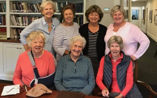 "From left, Betty Schiller, Debby Saliba, Peggy Shipman, Mary Bast, Barbara Reed, Louise Montross and Pam Hufnagel prepare for special ""Celebration of the Arts"" events at St. Christopher's Church. COURTESY PHOTO  (photo: )"