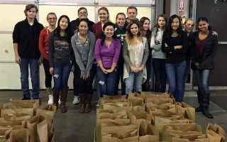 On Nov. 19, Dennis-Yarmouth High School students volunteered at the Family Pantry, assembling 537 complete turkey dinners for the annual Thanksgiving dinner distribution. Each family received a turkey, apples, potatoes, onions, stuffing, beans, corn, cranberry sauce, brownie mix and a fresh pie. COURTESY PHOTO  (photo: )